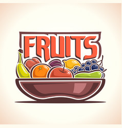 Fruit dish vector