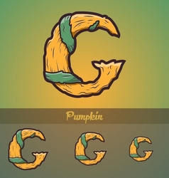 Halloween decorative alphabet - G letter vector image vector image