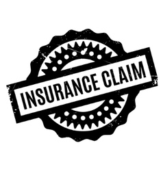 Insurance claim rubber stamp vector