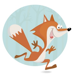 little fox in the forest vector image vector image