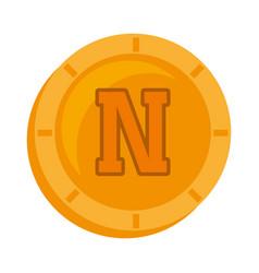 Novacoin money golden icon vector