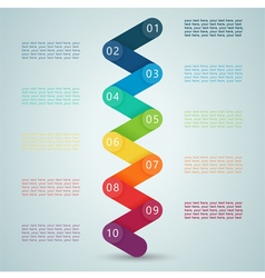 Number steps 3d infographic 1 to 10 d vector
