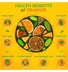 Orange health benefits vector