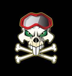 Pirate biker vector