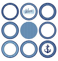 Set of wave elements and frames vector