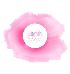 soft pink watercolor stain background vector image