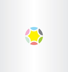 star colorful circle icon vector image vector image