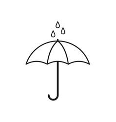 Umbrella for rain icon vector