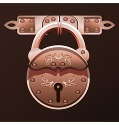 vintage padlock vector image vector image