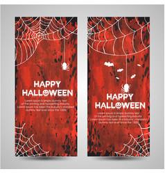 Watercolor halloween banner vector