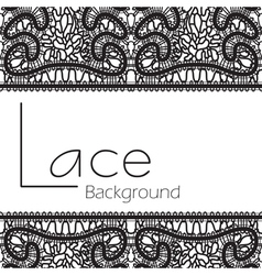 Black lace background vector image