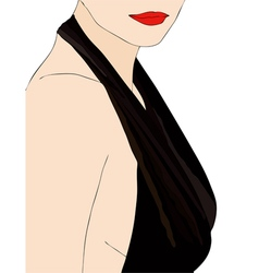A woman in a very sensual dress vector