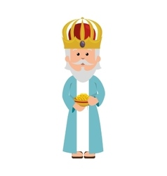 Wise man epiphany manger character vector