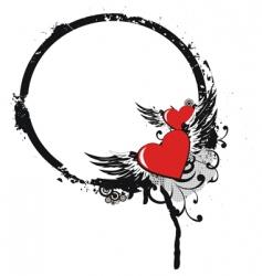 Valentine's frame vector image