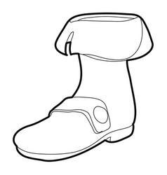 footwear icon outline vector image