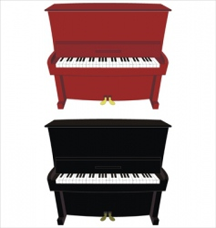 Cartoon piano vector