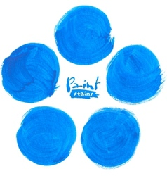 Blue circlemarker stains set vector