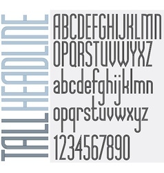 Tall stripes headline retro style light condensed vector