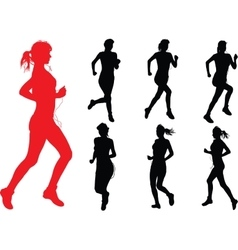 Run Girls vector image