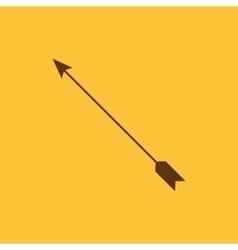 The arrow icon Arrow symbol Flat vector image