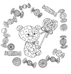 Toy for coloring book vector