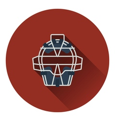 Baseball face protector icon vector