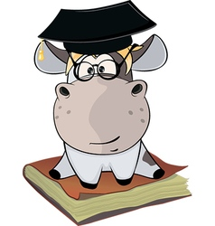A little cow Cartoon vector image