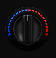 air temperature selector car dashboard black vector image
