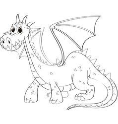 animal outline for dragon vector image vector image