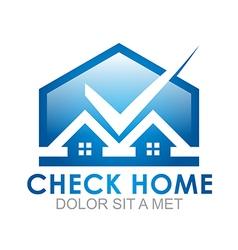 Blue house checks twins vector