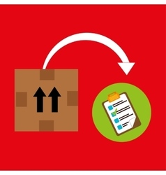 Box pack carton delivery vector