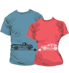 Car T-shirt vector image vector image