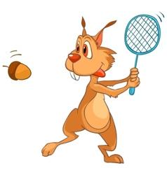 cartoon character squirrel vector image vector image