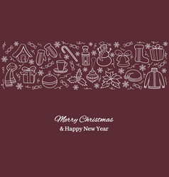 christmas card or horizontal banner with holiday vector image vector image