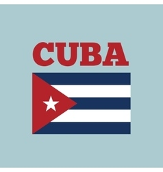 Cuba country flag vector