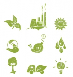 eco set vector image