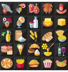 Food black vector image