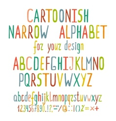 Hand drawn cartoon alphabet letters vector