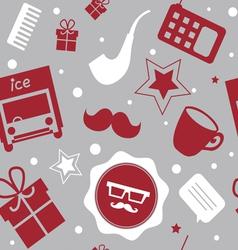 Holiday patternwith santa stuff vector