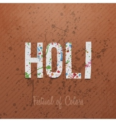 Indian holi festival of color background vector