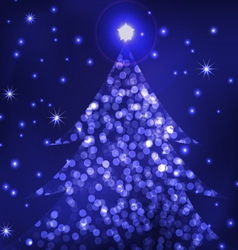 living christmas tree vector image