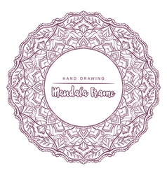 mandala for coloring with floral decorative elemen vector image
