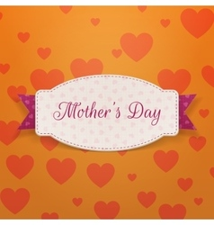 Mothers Day paper Banner Template and pink Ribbon vector image vector image