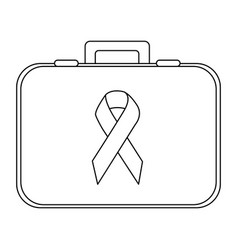 Personal bag with breast cancel symbol vector