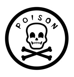 poison label graphic vector image