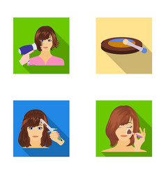 salon care hygiene and other web icon in flat vector image vector image