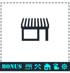 Showcase icon flat vector image vector image