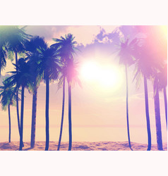 summer retro palm trees 1405 vector image vector image