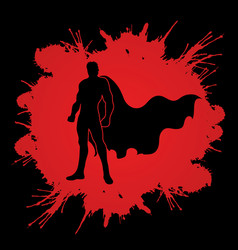super hero man standing graphic vector image vector image
