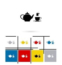 Tea icon vector
